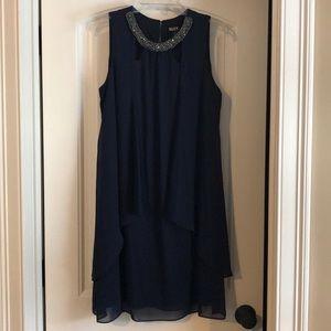 SLNY Sleeveless Chiffon Dress